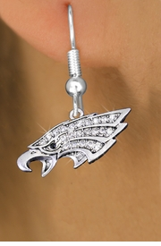 <bR>                 EXCLUSIVELY OURS!!<Br>           AN ALLAN ROBIN DESIGN!!<BR>     LEAD, NICKEL & CADMIUM FREE!!<BR> W1318SE - BEAUTIFUL EAGLE HEAD <BR>      CRYSTAL CHARM EARRINGS <BR>       FROM $4.95 TO $10.00 �2012