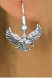 <bR>                 EXCLUSIVELY OURS!!<Br>           AN ALLAN ROBIN DESIGN!!<BR>     LEAD, NICKEL & CADMIUM FREE!!<BR> W1319SE - BEAUTIFUL FLYING EAGLE <BR>      CRYSTAL CHARM EARRINGS <BR>       FROM $4.95 TO $10.00 �2012