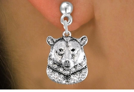 <bR>                 EXCLUSIVELY OURS!!<Br>           AN ALLAN ROBIN DESIGN!!<BR>     LEAD, NICKEL & CADMIUM FREE!! <BR>W1351SE - DETAILED GRIZZLY BEAR <BR>WITH CRYSTALS CHARM EARRINGS <BR>       FROM $4.95 TO $10.00 �2012