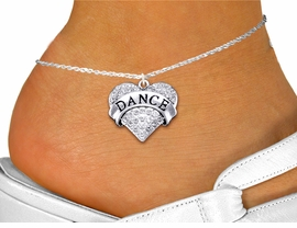 "<bR>                  EXCLUSIVELY OURS!! <BR>             AN ALLAN ROBIN DESIGN!! <BR>       LEAD, NICKEL & CADMIUM FREE!! <BR>  W1414SAK - SILVER TONE ""DANCE"" CLEAR <BR>      CRYSTAL HEART CHARM AND ANKLET <Br>           FROM $4.35 TO $9.00 �2013"