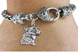 <bR>                   EXCLUSIVELY OURS!!<BR>             AN ALLAN ROBIN DESIGN!!<BR>                 LEAD & NICKEL FREE!!<BR>W1353SAK - DETAILED CHEETAH WITH <BR> CLEAR CRYSTALS CHARM  <BR>    ON HEART LOBSTER CLASP BRACELET <Br>         FROM $5.63 TO $12.50 �2012