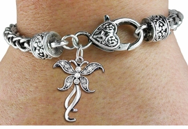 <bR>                    EXCLUSIVELY OURS!! <BR>                AN ALLAN ROBIN DESIGN!! <BR>                    LEAD & NICKEL FREE!! <BR>  W1392SB - SILVER TONE AND CRYSTAL<BR>    BUTTERFLY CHARM ON HEART SHAPED <BR>            LOBSTER CLASP BRACELET <Br>            FROM $5.63 TO $12.50 �2013