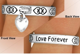 "<BR>                  EXCLUSIVELY OURS!!!<Br>             AN ALLAN ROBIN DESIGN!<Br>   W11890R - ""LOVE FOREVER"" HEART<br>DROP STRETCH RING FROM $2.25 TO $5.00"