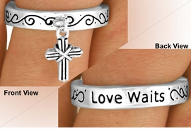 "<BR>                  EXCLUSIVELY OURS!!!<Br>             AN ALLAN ROBIN DESIGN!<Br>     W11895R - ""LOVE WAITS"" & CROSS<br>    STRETCH RING FROM $2.25 TO $5.00"
