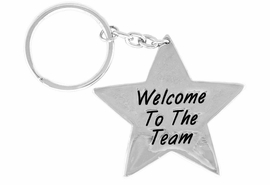 "<Br>                   EXCLUSIVELY OURS!!<Br>             AN ALLAN ROBIN DESIGN!!<Br>W14394KC - ""WELCOME TO THE TEAM""<bR>     STAR KEY CHAIN AS LOW AS $.99"