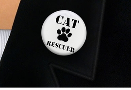 "<bR>                EXCLUSIVELY OURS!!<BR>          AN ALLAN ROBIN DESIGN!!<BR>W19334P -  ""CAT RESCUER"" WITH PAW <BR>           CLEAR FINISH TACK PIN <br>      FROM $1.28 TO $3.25 �2012"
