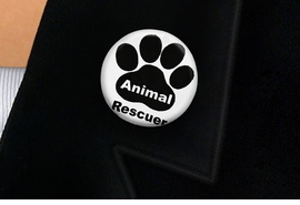 "<bR>                EXCLUSIVELY OURS!!<BR>          AN ALLAN ROBIN DESIGN!!<BR>W19339P -  ""ANIMAL RESCUER"" WITH PAW <BR>           CLEAR FINISH TACK PIN <br>      FROM $1.28 TO $3.25 �2012"