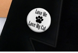 "<bR>                EXCLUSIVELY OURS!!<BR>          AN ALLAN ROBIN DESIGN!!<BR>W19341P -  ""LOVE ME LOVE MY CAT"" <BR>           CLEAR FINISH TACK PIN <br>      FROM $1.28 TO $3.25 �2012"