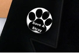 "<bR>                EXCLUSIVELY OURS!!<BR>          AN ALLAN ROBIN DESIGN!!<BR>W19342P -  ""SAVE A STRAY"" WITH PAW <BR>           CLEAR FINISH TACK PIN <br>      FROM $1.28 TO $3.25 �2012"