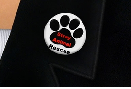 "<bR>                EXCLUSIVELY OURS!!<BR>          AN ALLAN ROBIN DESIGN!!<BR>W19343P -  ""STRAY ANIMAL RESCUE"" <BR>           CLEAR FINISH TACK PIN <br>      FROM $1.28 TO $3.25 �2012"