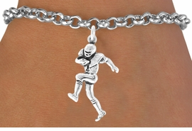 <bR>               EXCLUSIVELY OURS!!<BR>CLICK HERE TO SEE 120+ EXCITING<BR>   CHANGES THAT YOU CAN MAKE!<BR>              LEAD & NICKEL FREE!!<BR>   W485SB - FOOTBALL PLAYER &<br>        BRACELET AS LOW AS $4.50