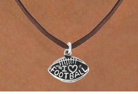 "<bR>               EXCLUSIVELY OURS!!<BR>CLICK HERE TO SEE 120+ EXCITING<BR>   CHANGES THAT YOU CAN MAKE!<BR>              LEAD & NICKEL FREE!!<BR>  W486SN - ""I LOVE FOOTBALL"" &<br>        NECKLACE AS LOW AS $4.50"