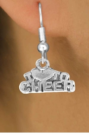 "<bR>               EXCLUSIVELY OURS!!<BR>CLICK HERE TO SEE 120+ EXCITING<BR>   CHANGES THAT YOU CAN MAKE!<BR>              LEAD & NICKEL FREE!!<BR>   W526SE - ""I LOVE TO CHEER"" &<Br>       EARRINGS FROM $3.25 TO $8.00"