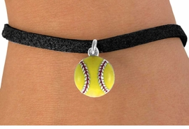 <bR>               EXCLUSIVELY OURS!!<BR>CLICK HERE TO SEE 120+ EXCITING<BR>   CHANGES THAT YOU CAN MAKE!<BR>              LEAD & NICKEL FREE!!<BR>      W527SB - YELLOW SOFTBALL<Br>BRACELET AS LOW AS $4.50 TO $8.35