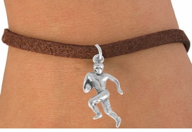 <bR>               EXCLUSIVELY OURS!!<BR>CLICK HERE TO SEE 120+ EXCITING<BR>   CHANGES THAT YOU CAN MAKE!<BR>              LEAD & NICKEL FREE!!<BR>      W551SB - FOOTBALL PLAYER<Br>    ON BRACELET AS LOW AS $4.50