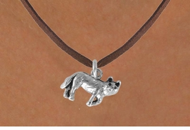 <bR>               EXCLUSIVELY OURS!!<BR>CLICK HERE TO SEE 120+ EXCITING<BR>  CHANGES THAT YOU CAN MAKE!<BR>             LEAD & NICKEL FREE!!<BR>     W553SN - WOLF & NECKLACE<BR>                   AS LOW AS $4.50