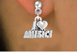 "<bR>               EXCLUSIVELY OURS!!<BR>CLICK HERE TO SEE 120+ EXCITING<BR>   CHANGES THAT YOU CAN MAKE!<BR>              LEAD & NICKEL FREE!!<BR>       W567SE - ""I LOVE MUSIC"" &<Br>        EARRINGS FROM $4.50 TO $8.35"