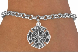 <bR>              EXCLUSIVELY OURS!!<BR>CLICK HERE TO SEE 120+ EXCITING<BR>   CHANGES THAT YOU CAN MAKE!<BR>              LEAD & NICKEL FREE!!<BR>     W580SB - FIREMAN'S BADGE<Br>     & BRACELET AS LOW AS $3.25