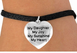 """<bR>              EXCLUSIVELY OURS!!<BR>CLICK HERE TO SEE 120+ EXCITING<BR>   CHANGES THAT YOU CAN MAKE!<BR>              LEAD & NICKEL FREE!!<BR>W600SB - """"MY DAUGHTER"""" HEART<Br>      & BRACELET AS LOW AS $4.50"""