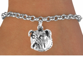 <bR>             EXCLUSIVELY OURS!!<BR>CLICK HERE TO SEE 65+ EXCITING<BR> CHANGES THAT YOU CAN MAKE!<BR>             LEAD & NICKEL FREE!!<BR>W212SB - BULLDOG & BRACELET<Br>                  AS LOW AS $3.25