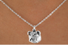 <bR>              EXCLUSIVELY OURS!!<BR> CLICK HERE TO SEE 65+ EXCITING<BR>  CHANGES THAT YOU CAN MAKE!<BR>             LEAD & NICKEL FREE!!<BR>W212SN - BULLDOG & NECKLACE<br>                   AS LOW AS $3.65