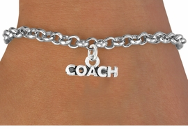 "<bR>             EXCLUSIVELY OURS!!<BR>CLICK HERE TO SEE 65+ EXCITING<BR> CHANGES THAT YOU CAN MAKE!<BR>            LEAD & NICKEL FREE!!<BR>           W234SB - ""COACH"" &<Br>     BRACELET AS LOW AS $4.50"