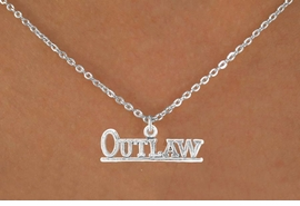 "<bR>                EXCLUSIVELY OURS!!<BR>  CLICK HERE TO SEE 65+ EXCITING<BR>    CHANGES THAT YOU CAN MAKE!<BR>               LEAD & NICKEL FREE!!<BR>W237SN - ""OUTLAW"" & NECKLACE<Br>                    AS LOW AS $3.65"