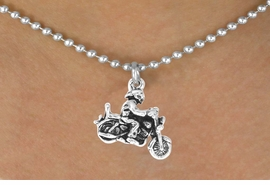 <bR>                   EXCLUSIVELY OURS!!<BR>    CLICK HERE TO SEE 65+ EXCITING<BR>      CHANGES THAT YOU CAN MAKE!<BR>                  LEAD & NICKEL FREE!!<BR>       W240SN - MOTORCYCLE BIKER<Br>CHARM & NECKLACE AS LOW AS $4.50