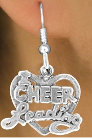 "<bR>               EXCLUSIVELY OURS!!<BR> CLICK HERE TO SEE 65+ EXCITING<BR>  CHANGES THAT YOU CAN MAKE!<BR>               LEAD & NICKEL FREE!!<BR>W367SE - ""I LOVE CHEERLEADING""<Br>       & EARRING FROM $3.25 TO $8.00"