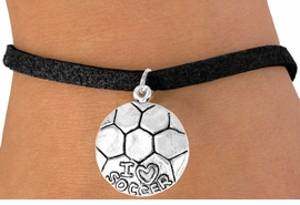 "<bR>             EXCLUSIVELY OURS!!<BR>CLICK HERE TO SEE 65+ EXCITING<BR> CHANGES THAT YOU CAN MAKE!<BR>            LEAD & NICKEL FREE!!<BR>W375SB - ""I LOVE SOCCER"" BALL<Br>    & BRACELET AS LOW AS $3.25"