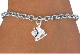 "<bR>              EXCLUSIVELY OURS!!<BR>CLICK HERE TO SEE 65+ EXCITING<BR> CHANGES THAT YOU CAN MAKE!<BR>             LEAD & NICKEL FREE!!<BR>   W378SB - ""I LOVE SKATING"" &<BR>       BRACELET AS LOW AS $4.50"