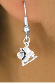 "<bR>             EXCLUSIVELY OURS!!<BR>CLICK HERE TO SEE 65+ EXCITING<BR> CHANGES THAT YOU CAN MAKE!<BR>             LEAD & NICKEL FREE!!<BR>   W378SE - ""I LOVE SKATING"" &<Br>        EARRING FROM $4.50 TO $8.35"