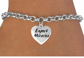 "<bR>             EXCLUSIVELY OURS!!<BR>CLICK HERE TO SEE 65+ EXCITING<BR> CHANGES THAT YOU CAN MAKE!<BR>            LEAD & NICKEL FREE!!<BR>W403SB - ""EXPECT MIRACLES"" &<BR>  BRACELET FROM $3.25 TO $7.50"