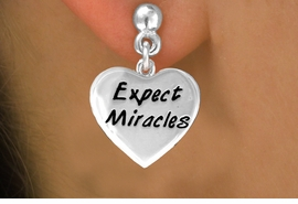 "<bR>             EXCLUSIVELY OURS!!<BR>CLICK HERE TO SEE 65+ EXCITING<BR> CHANGES THAT YOU CAN MAKE!<BR>            LEAD & NICKEL FREE!!<BR>  W403SE - ""EXPECT MIRACLES""<Br>    & EARRING FROM $3.25 TO $8.00"
