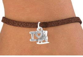"""<bR>             EXCLUSIVELY OURS!!<BR>CLICK HERE TO SEE 65+ EXCITING<BR> CHANGES THAT YOU CAN MAKE!<BR>            LEAD & NICKEL FREE!!<BR> W408SB - """"I LOVE ICE SKATING""""<BR>   & BRACELET AS LOW AS $4.50"""