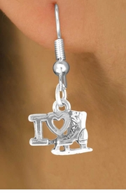 "<bR>             EXCLUSIVELY OURS!!<BR>CLICK HERE TO SEE 65+ EXCITING<BR> CHANGES THAT YOU CAN MAKE!<BR>            LEAD & NICKEL FREE!!<BR> W408SE - ""I LOVE ICE SKATING""<Br>     & EARRING FROM $4.50 TO $8.35"