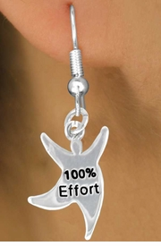 "<bR>              EXCLUSIVELY OURS!!<BR>CLICK HERE TO SEE 65+ EXCITING<BR> CHANGES THAT YOU CAN MAKE!<BR>             LEAD & NICKEL FREE!!<BR> W422SE - ""100% EFFORT"" STAR<Br>MAN & EARRING FROM $4.50 TO $8.35"