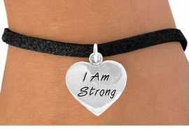 "<bR>              EXCLUSIVELY OURS!!<BR>CLICK HERE TO SEE 65+ EXCITING<BR> CHANGES THAT YOU CAN MAKE!<BR>             LEAD & NICKEL FREE!!<BR>W424SB - ""I AM STRONG"" HEART<Br>& BRACELET FROM $3.25 TO $7.50"