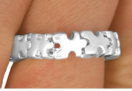 <Br>           EXCLUSIVELY OURS!!!<BR>LEAD, NICKEL AND CADMIUM FREE!<BR>       AN ALLAN ROBIN DESIGN!<Br>W11881R - AUTISM AWARENESS<Br>    PUZZLE PIECE STRETCH RING<Br>   ©2010 FROM $3.94 TO $8.75