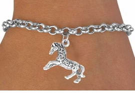 "<bR>                    EXCLUSIVELY OURS!!<Br>                   LEAD & NICKEL FREE!!<BR>   W247SB - ""I LOVE HORSES"" HORSE<Br>CHARM & BRACELET AS LOW AS $3.25"