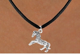 "<bR>                   EXCLUSIVELY OURS!!<Br>                  LEAD & NICKEL FREE!!<BR>   W247SN - ""I LOVE HORSES"" HORSE<Br>CHARM & NECKLACE AS LOW AS $4.50"
