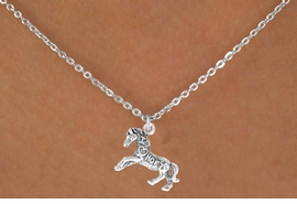"<bR>                   EXCLUSIVELY OURS!!<Br>                  LEAD & NICKEL FREE!!<BR>   W247SN - ""I LOVE HORSES"" HORSE<Br>CHARM & NECKLACE AS LOW AS $3.65"