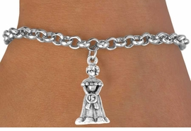 <bR>             EXCLUSIVELY OURS!!<Br>            LEAD & NICKEL FREE!!<BR>W250SB - QUINCEANERA CHARM<Br>   & BRACELET AS LOW AS $3.25