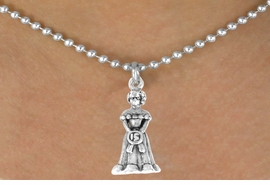 <bR>              EXCLUSIVELY OURS!!<Br>             LEAD & NICKEL FREE!!<BR> W250SN - QUINCEAÑERA CHARM<Br>    & NECKLACE AS LOW AS $4.50