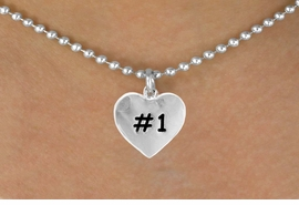 "<bR>        EXCLUSIVELY OURS!!<Br>       LEAD & NICKEL FREE!!<BR>   W299SN - ""#1"" HEART &<br>NECKLACE AS LOW AS $4.50"