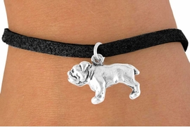 <bR>          EXCLUSIVELY OURS!!<Br>         LEAD & NICKEL FREE!!<BR> W323SB - BULLDOG CHARM<Br>& BRACELET AS LOW AS $3.25