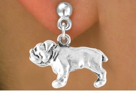 <bR>         EXCLUSIVELY OURS!!<Br>        LEAD & NICKEL FREE!!<BR> W323SE - BULLDOG CHARM<Br>& EARRING FROM $3.25 TO $8.00