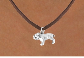 <bR>          EXCLUSIVELY OURS!!<Br>         LEAD & NICKEL FREE!!<BR> W323SN - BULLDOG CHARM<br>& NECKLACE AS LOW AS $3.65