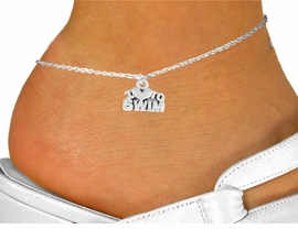 "<bR>          EXCLUSIVELY OURS!!<Br>         LEAD & NICKEL FREE!!<BR>W334SAK - ""I LOVE TO SWIM""<Br>     ANKLET AS LOW AS $2.85"