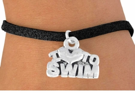 "<bR>        EXCLUSIVELY OURS!!<Br>       LEAD & NICKEL FREE!!<BR>W334SB - ""I LOVE TO SWIM""<Br> BRACELET AS LOW AS $4.50"